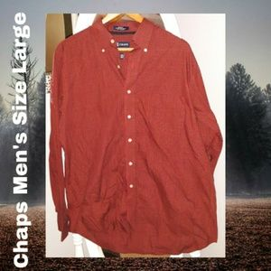 Chaps Long Sleeve Shirt | Large | Men's | Red